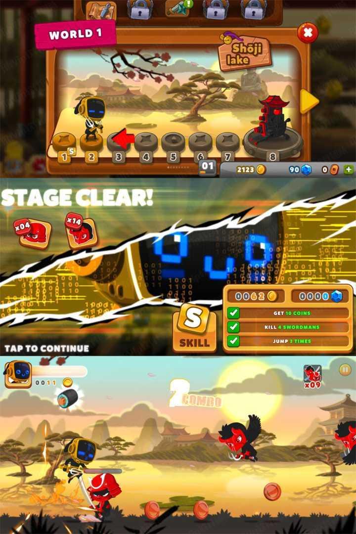 忍者冲刺破解版 类似忍者必须死的跑酷杀敌游戏 第1张