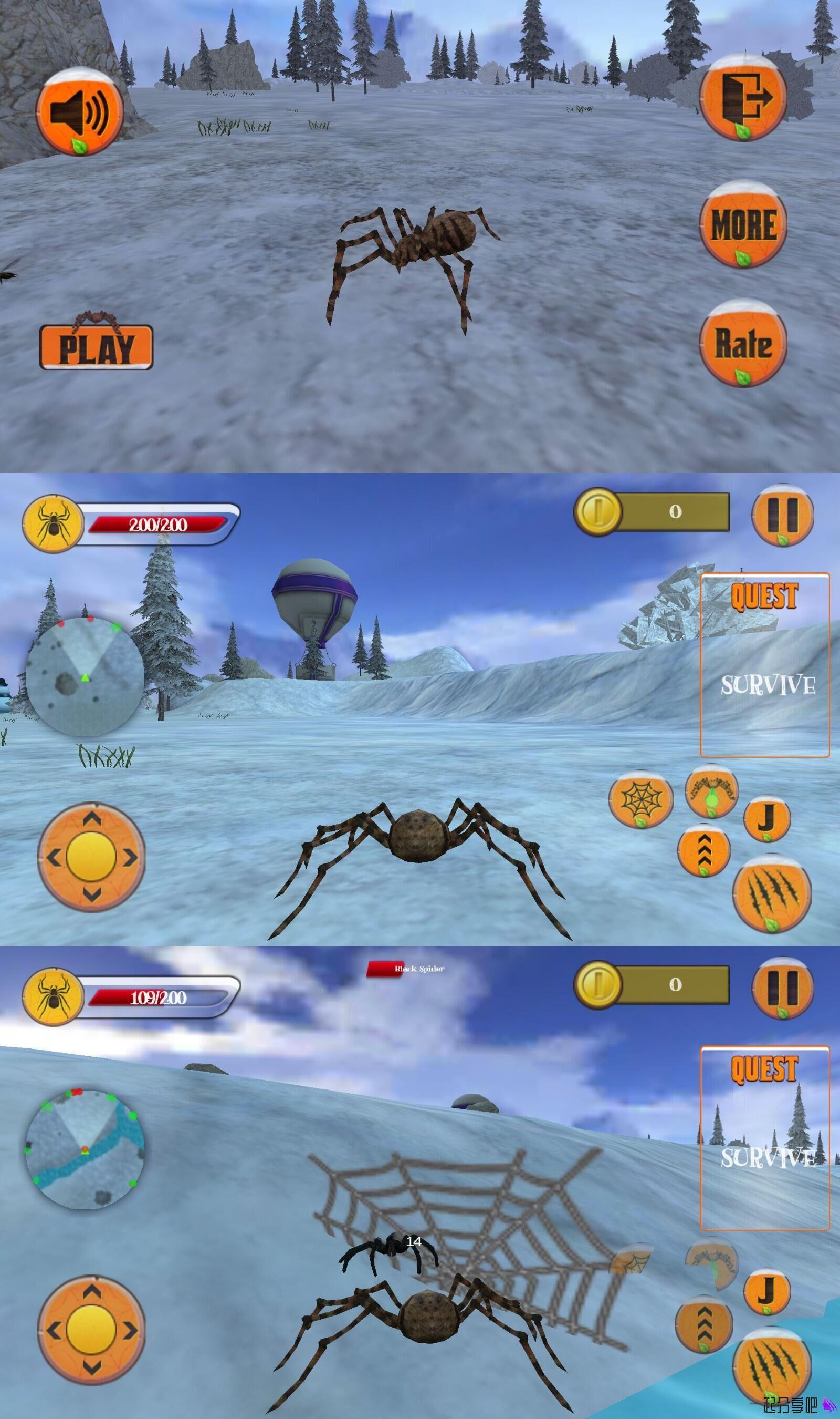 蜘蛛模拟器破解版 模仿动物捕食过程的3D动作类游戏 第1张