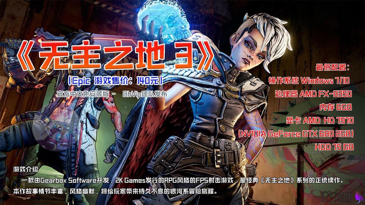 无主之地3官方中文PC免安装版(Epic商店售价214元) 第1张