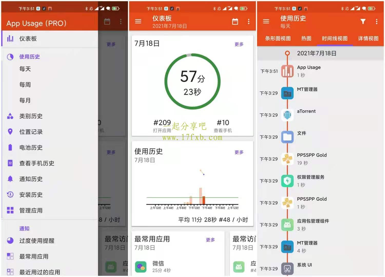 APP记录追踪器App Usage Pro v5.16 付费专业增强中文版 第1张